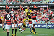 10.03.2013 Sydney, Australia. Wellingtons defender Ben Sigmund in action during the Hyundai A League game between Western Sydney Wanderers and Wellington Phoenix FC from the Parramatta Stadium. The Wanderers won 2-1.