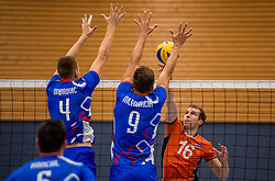 28-08-2016 NED: Nederland - Slowakije, Nieuwegein<br /> Het Nederlands team heeft de oefencampagne tegen Slowakije met een derde overwinning op rij afgesloten. In een uitverkocht Sportcomplex Merwestein won Nederland met 3-0 van Slowakije / Wouter ter Maat #16