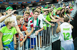 Zoran Dragic of Slovenia celebrates after winning during basketball match between Slovenia and Macedonia at Day 6 in Group C of FIBA Europe Eurobasket 2015, on September 10, 2015, in Arena Zagreb, Croatia. Photo by Vid Ponikvar / Sportida