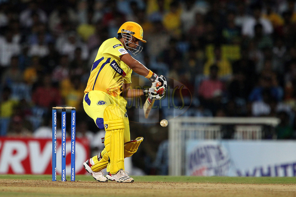 Suresh Raina during match 18 of the NOKIA Champions League T20 ( CLT20 )between the Chennai Superkings  and The NSW Blues held at the M. A. Chidambaram Stadium in Chennai , Tamil Nadu, India on the 4th October 2011..Photo by Ron Gaunt/BCCI/SPORTZPICS