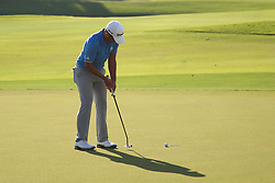 September 24, 2017 - Atlanta, Georgia, United States - Xander Schauffele putts for birdie and the win on the 18th green during the final round of the TOUR Championship at the East Lake Club. (Credit Image: © Debby Wong via ZUMA Wire)