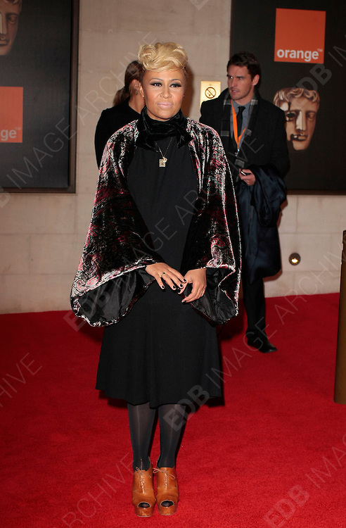 12.FEBRUARY.2012. LONDON<br /> <br /> EMELI SANDE ATTENDS THE ORANGE BRITISH ACADEMY FILM AWARDS AFTER PARTY AT THE GROSVENOR HOUSE HOTEL IN LONDON<br /> <br /> BYLINE: EDBIMAGEARCHIVE.COM<br /> <br /> *THIS IMAGE IS STRICTLY FOR UK NEWSPAPERS AND MAGAZINES ONLY*<br /> *FOR WORLD WIDE SALES AND WEB USE PLEASE CONTACT EDBIMAGEARCHIVE - 0208 954 5968*