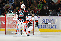 KELOWNA, CANADA, OCTOBER 11: Emerson Etem #26 of the Medicine Hat Tigers skates on the ice as the Medicine Hat Tigers visited the Kelowna Rockets on October 11, 2011 at Prospera Place in Kelowna, British Columbia, Canada (Photo by Marissa Baecker/shootthebreeze.ca) *** Local Caption ***Emerson Etem;