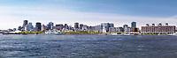 City of Montreal waterfront skyline panoramic daytime scenery, Quebec, Canada. Ville de Montréal, Québec, Canada 2017.