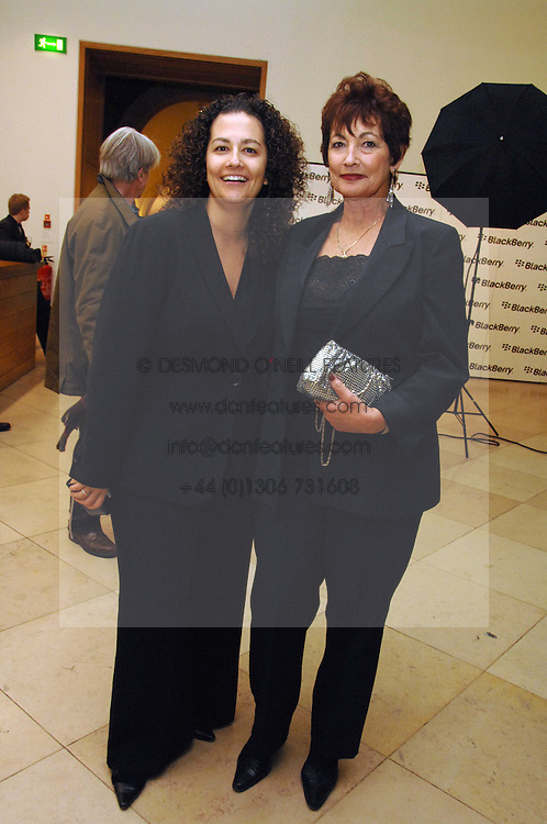 Left to right,  Charmaine Eggberry VP and Managing Director, EMEA sponsors of the exhibition and MARIE EGGBERRY at a private view of Bryan Adam's photographs entitled 'Modern Muses' held at The National Portrait Gallery, London on 11th March 2008.<br />