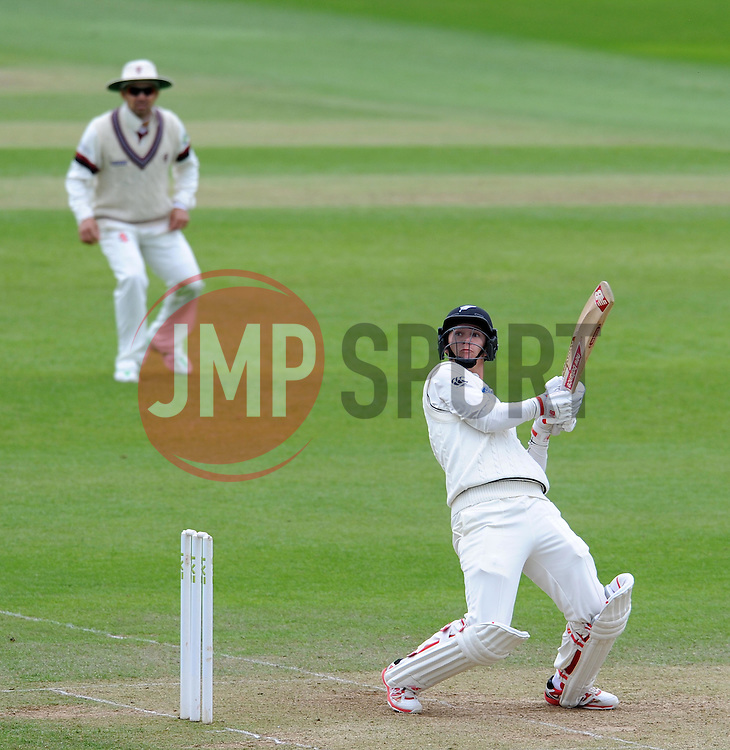 New Zealand's Ben Wheeler flicks the ball. Photo mandatory by-line: Harry Trump/JMP - Mobile: 07966 386802 - 10/05/15 - SPORT - CRICKET - Somerset v New Zealand - Day 3- The County Ground, Taunton, England.