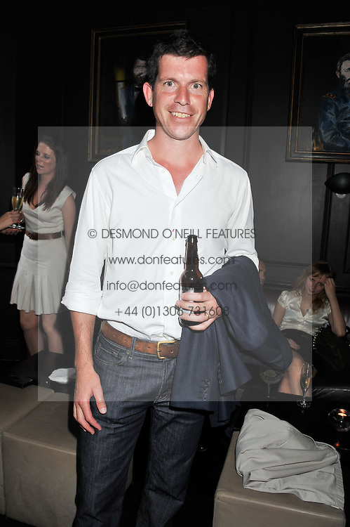 TIM HENMAN at the launch of Hideaways House at Morton's Club, Berkeley Square, London on 25th July 2012.