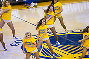 The Golden State Warriors Dance Squad performs during a timeout during Game 3 of the Western Conference Finals against the Houston Rockets at Oracle Arena in Oakland, Calif., on May 20, 2018. (Stan Olszewski/Special to S.F. Examiner)