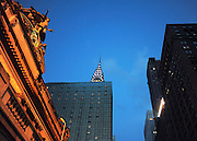 © licensed to London News Pictures.New York, UK  28/05/11. The Chrysler Building seen from Grand Central Station.  Views of New York City. Please see special instructions. Photo credit should read Stephen Simpson/LNP