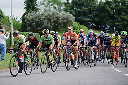 Peloton weave through Norfolk's twisting country roads at Aviva Women's Tour 2016 - Stage 1. A 138.5 km road race from Southwold to Norwich, UK on June 15th 2016.