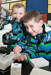 Repro Free: 29/05/2014 Dublin <br /> &ldquo;Microscopic Gardens&rdquo; James and Leo Walsh (6) from Louth check out some very small gardens at the &lsquo;The Science of Horticulture&rsquo; themed ITB (Institute of Technology Blanchardstown) stand in the Floral Pavilion at Bloom in the Park. Picture Andres Poveda