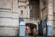Swiss guards at the Vatican.