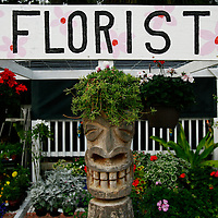 BOCA GRANDE, FL -- January 3, 2008 -- Storefronts, such as the Native Gardens florist, have their own unique fronts in Boca Grande, Fla., on Saturday, January 3, 2008.  Boca Grande is a small Old-Florida community on Gasparilla Island, with no traffic lights, billboard or condo development, which attracts both seasonal and year-round affluent residents.