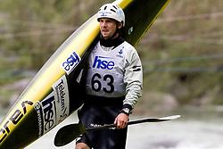 Janos Peterlin of BD Steklarna Hrastnik during the Men's Kayak K-1 at kayak & canoe slalom race on May 9, 2010 in Tacen, Ljubljana, Slovenia. (Photo by Vid Ponikvar / Sportida)