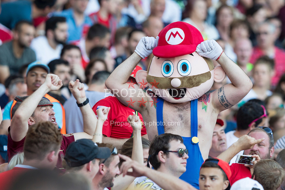 TOULOUSE, FRANCE - Monday, June 20, 2016: A Russia supporter dressed as Nintendo character Super Mario ahead of the final Group B UEFA Euro 2016 Championship match against Wales at Stadium de Toulouse. (Pic by Paul Greenwood/Propaganda)