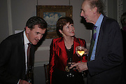 Sir  Neil Macgregor, Jane Ferguson and Sir Nicholas Goodison. Celebration honouring the arrival of Deborah Swallow, director, Courtauld Institute of Art. Courtauld Gallery. Somerset House. 9 December 2004. ONE TIME USE ONLY - DO NOT ARCHIVE  © Copyright Photograph by Dafydd Jones 66 Stockwell Park Rd. London SW9 0DA Tel 020 7733 0108 www.dafjones.com