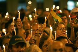 Cerca de quatro mil pessoas participam da marcha pela paz nas ruas de Porto Alegre como atividade na 9ª Assembleia do Conselho Mundial de Igrejas (CMI) que acontece de 14 a 23 de fevereiro.  FOTO: Jefferson Bernardes/Preview.com