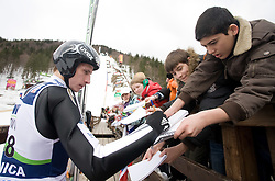 Robert Kranjec (SLO) at Qualification's 1st day of 32nd World Cup Competition of FIS World Cup Ski Jumping Final in Planica, Slovenia, on March 19, 2009. (Photo by Vid Ponikvar / Sportida)