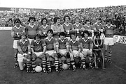 The Kerry team before the All Ireland Minor Gaelic Football Final, Tyrone v Kerry in Croke Park on the 28th September 1975.