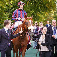 Dice Roll (C. Demuro) wins Haras de Bouquetot - Criterium de la Vente d'Octobre Arqana in Chantilly, France 30/09/2017 photo: Zuzanna Lupa