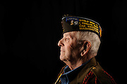 WWII veteran Roy McWilliams, pictured in Merced Wednesday. (10-30-13)