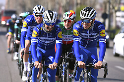 March 22, 2019 - Milan, Italie - MILANO, ITALY - MARCH 22 : SABATINI Fabio (ITA) of DECEUNINCK - QUICK - STEP, DECLERCQ Tim (BEL) of DECEUNINCK - QUICK - STEP, ALAPHILIPPE Julian (FRA) of DECEUNINCK - QUICK - STEP, VIVIANI Elia (ITA) of DECEUNINCK - QUICK - STEP, STYBAR Zdenek (CZE) of DECEUNINCK - QUICK - STEP pictured during a training session a day prior to the UCI World Tour 110th Milan Sanremo cycling race with start in Milano and finish at the Via Roma in San Remo (291 kms) on March 22, 2019 in Milano, Italy, 22/03/2019 (Credit Image: © Panoramic via ZUMA Press)