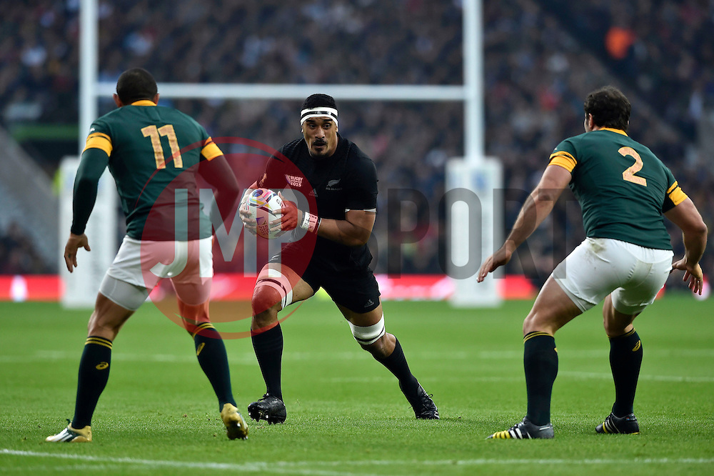 Jerome Kaino of New Zealand in possession - Mandatory byline: Patrick Khachfe/JMP - 07966 386802 - 24/10/2015 - RUGBY UNION - Twickenham Stadium - London, England - South Africa v New Zealand - Rugby World Cup 2015 Semi Final.