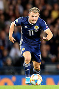 Scotland forward Ryan Fraser (11) (AFC Bournemouth) during the UEFA European 2020 Qualifier match between Scotland and Russia at Hampden Park, Glasgow, United Kingdom on 6 September 2019.