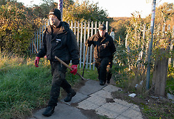 © Licensed to London News Pictures. 02/11/2018. Swanscombe, UK.Police search teams are searching a new location in Swanscombe in the hunt for mum of five Sarah Wellgreen who has been missing for over three weeks.  Photo credit: Grant Falvey/LNP