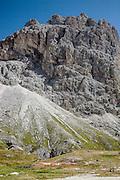 Trentino,  Catinaccio nelle Dolomiti, nel territorio comunale di Vigo di Fassa, a 2.243 metri