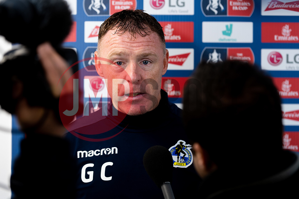 Bristol Rovers manager Graham Coughlan after the final whistle of the match - Mandatory by-line: Ryan Hiscott/JMP - 10/11/2019 - FOOTBALL - Memorial Stadium - Bristol, England - Bristol Rovers v Bromley - Emirates FA Cup first round