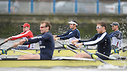 Putney, GREAT BRITAIN,  USA Eight. [right] Matt MUFFELMAN, 3. Chris CALLAGHAM, 4. Gabriel WINKLER, in the opening strokes of the Pre Boat Race fixture, Oxford University BC vs USA [Select]  M8+.  08/03/2008. [Mandatory Credit, Peter Spurrier/Intersport-images] Varsity Boat Race, Rowing Course: River Thames, Championship course, Putney to Mortlake 4.25 Miles,