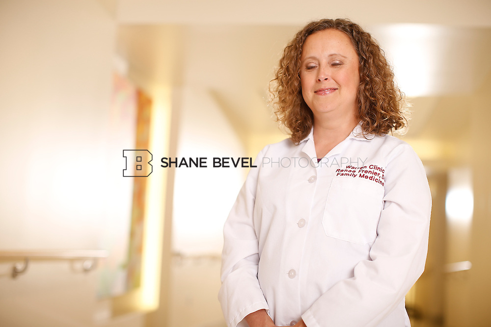 5/28/15 4:25:44 PM -- Dr. Renee Frenier of Saint Francis Health System poses for a portrait for the 2015 Advertising Campaign. <br /> <br /> Photo by Shane Bevel