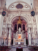 The ornate altar in Santa Maria Della Saluta in Venice, Italy.