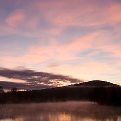 Dawn over the Connecticut River in Lunenburg, Vermont.