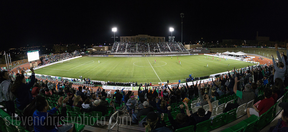 February 27, 2016: The OKC Energy FC plays MLS side FC Dallas in a preseason game at Taft Stadium in Oklahoma City, Oklahoma.
