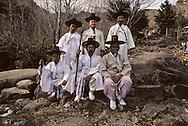 The men of the village in their ceremony  dresses Les hommes du village en tenue de ceremonie //////R28/2    L2619  /  R00028  /  P0002996//////Chonhakdong village confucianiste traditionel. //////Chonhakdong traditional confucianist village .