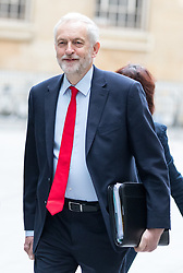 © Licensed to London News Pictures. 23/04/2017. London, UK. Leader of the Labour Party Jeremy Corbyn  arriving at BBC Broadcasting House to appear on The Andrew Marr Show this morning. Photo credit : Tom Nicholson/LNP