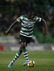 December 17, 2017 - Lisbon, Portugal - Sporting's midfielder William Carvalho in action during Primeira Liga 2017/18 match between Sporting CP vs Portimonense SC, in Lisbon, on December 17, 2017. (Credit Image: © Carlos Palma/NurPhoto via ZUMA Press)