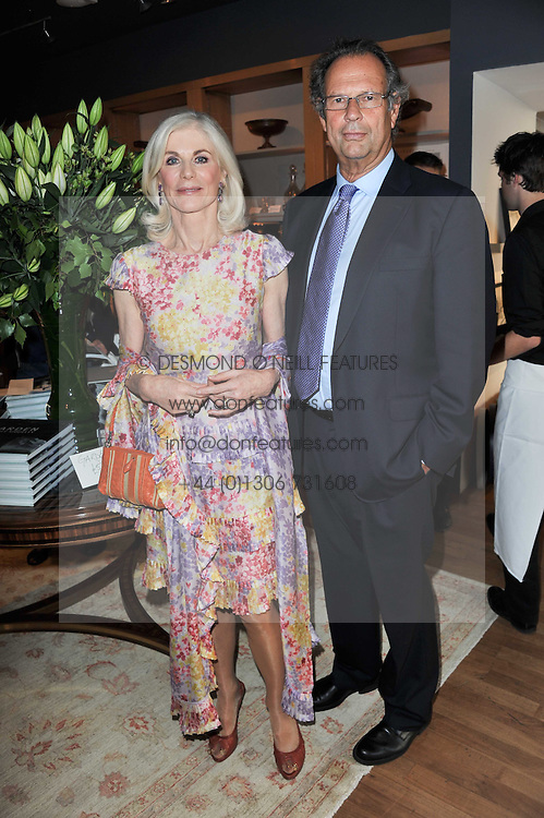 The EARL & COUNTESS OF CHICHESTER at a party to celebrate the publication of 'Garden' by Randle Siddeley held at Linley, 60 Pimlico Road, London on 24th May 2011.