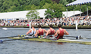 Henley, GREAT BRITAIN,  2012 Henley Royal Regatta. M4-, Oxford Brookes University and Molesey Boat Club, pass Stewards' Enclosure, in the Semi-Final, of the Visitors' Challenge Cup. Saturday  15:00:21  30/06/2012 [Mandatory Credit, Intersport-images] ..Rowing Courses, Henley Reach, Henley, ENGLAND . HRR.