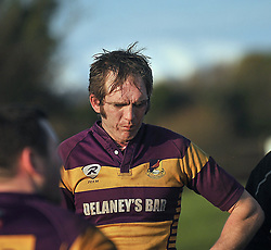Ballyhaunis John Nolan at full time during the Connacht Junior Cup match on sunday.<br /> Pic Conor McKeown