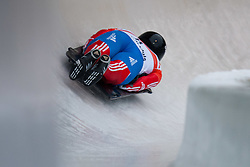 03.12.2011, Eiskanal, Igls, AUT, Viessmann FIBT Bob und Skeleton Weltcup, Skeleton Herren, 1. Durchgang, im Bild Sergei Chudinov (RUS) // Sergei Chudinov  of Russia during first run men's Skeleton at FIBT Viessmann Bobsleigh and Skeleton World Cup at Olympic ice canal, Innsbruck Igls, Austria on 2011/12/03. EXPA Pictures © 2011, PhotoCredit: EXPA/ Johann Groder