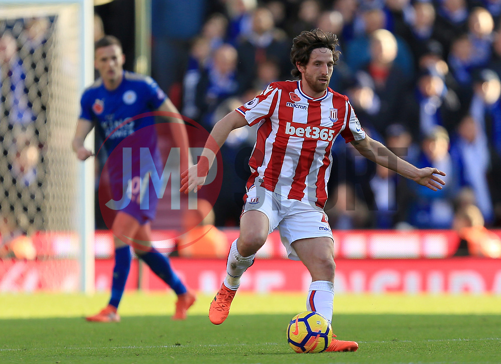 Joe Allen of Stoke City - Mandatory by-line: Paul Roberts/JMP - 04/11/2017 - FOOTBALL - Bet365 Stadium - Stoke-on-Trent, England - Stoke City v Leicester City - Premier League