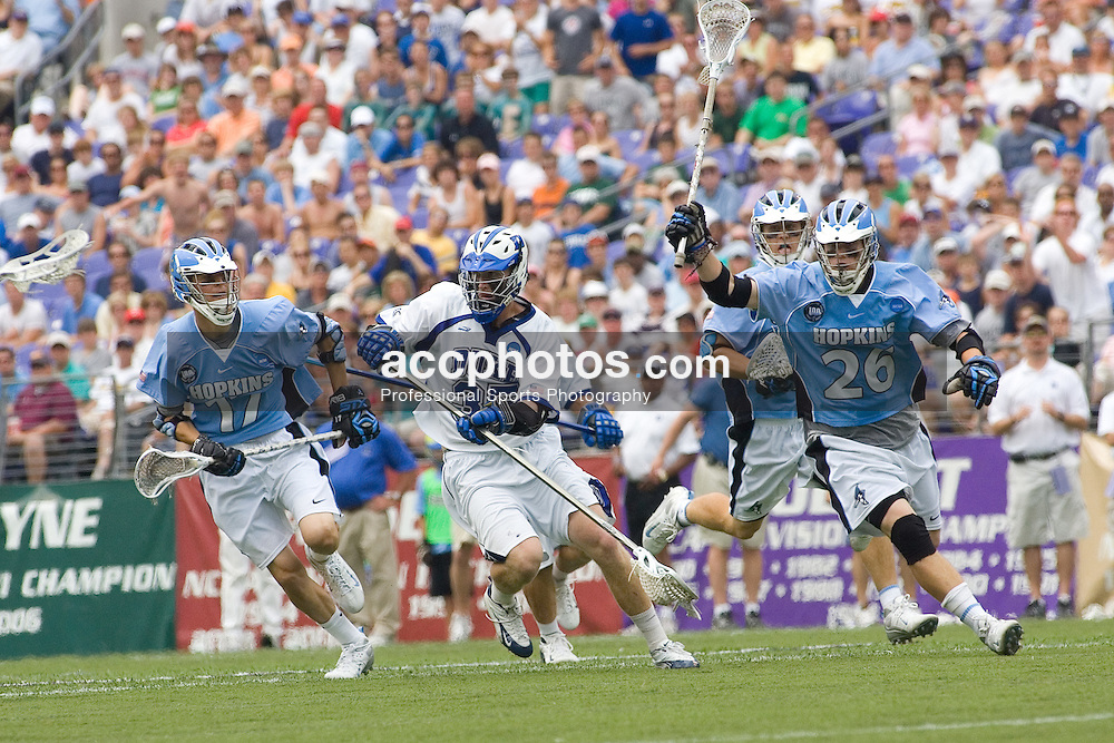 28 May 2007: Duke Blue Devils defenseman Parker McKee (35) in a 11-12 loss to the Johns Hopkins Blue Jays at M&T Bank Stadium during the NCAA finals in Baltimore, MD.