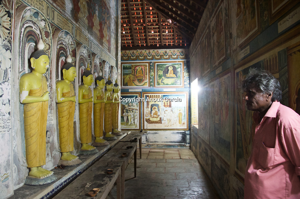 Rekava temple. Small unknow temple behind the wonderful wild beach of Rekava.