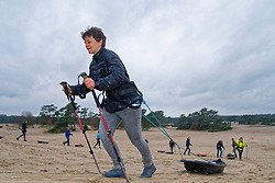 Mirjam in training for the Camino 2020 at the Soesterduinen on March 08, 2020 in Soest, Netherlands