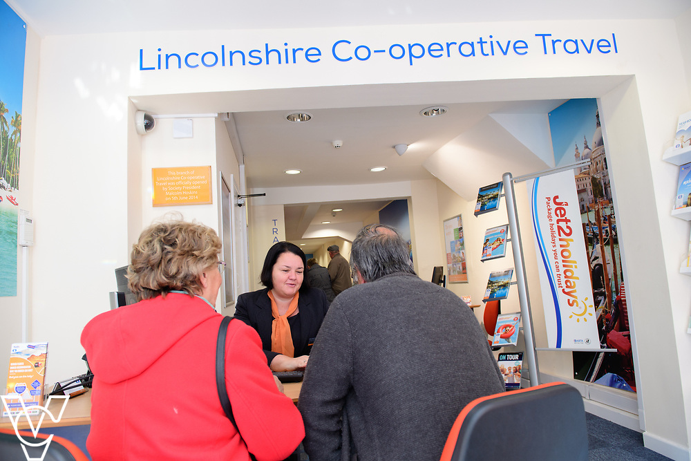 Lincolnshire Co-operative's Celebrating Success Evening winners.  Newark Travel branch were won Travel Branch of the Year.  Pictured is manager Clare Pennington serving customers. <br /> <br /> Picture: Chris Vaughan Photography for Lincolnshire Co-op<br /> Date: May 2, 2017