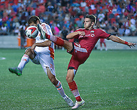 July 27, 2015: Ottawa Fury FC forward Carl Haworth (#17) during the NASL match between the Ottawa Fury FC and Carolina Railhawks at TD Place Stadium in Ottawa, ON. Canada on July 27, 2016. The Fury recording a 2-0 win.<br /> <br /> PHOTO: Steve Kingsman/Freestyle Photography
