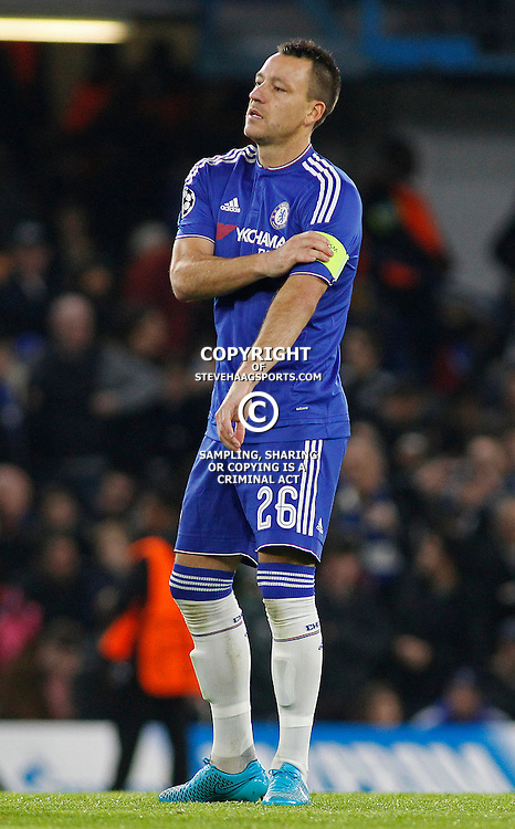 LONDON, ENGLAND - NOVEMBER 04 2015: John Terry of Chelsea during the UEFA Champions League match between Chelsea and Dynamo Kyiv at Stamford Bridge on November 04, 2015 in London, United Kingdom.